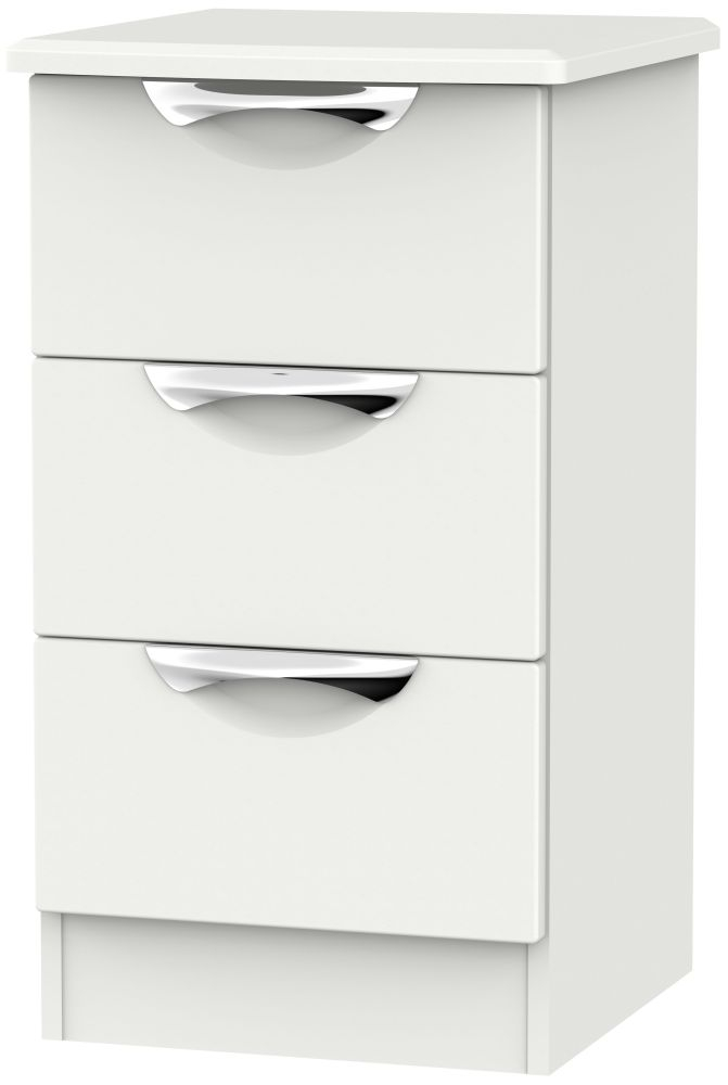Camden Light Grey 3 Drawer Bedside Cabinet