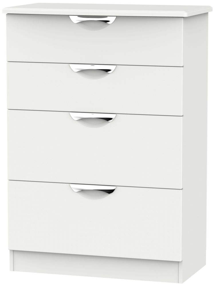 Camden Light Grey 4 Drawer Deep Chest