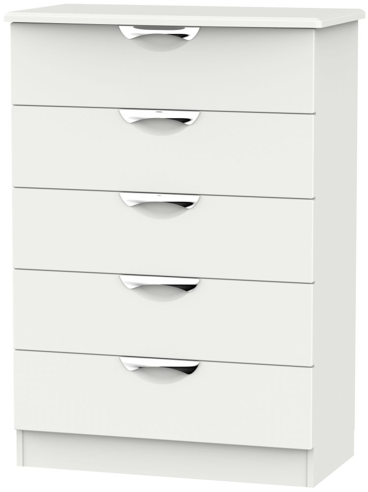 Camden Light Grey 5 Drawer Chest