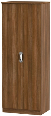 Camden Noche Walnut 2 Door Tall Hanging Wardrobe