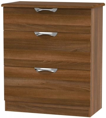Camden Noche Walnut 3 Drawer Deep Chest