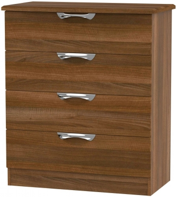 Camden Noche Walnut 4 Drawer Chest