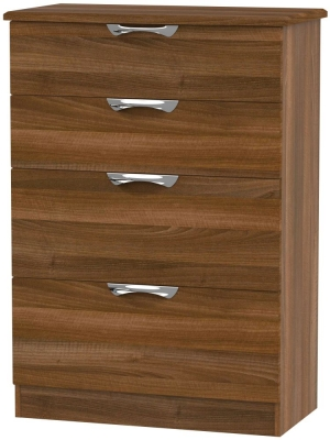 Camden Noche Walnut 4 Drawer Deep Chest