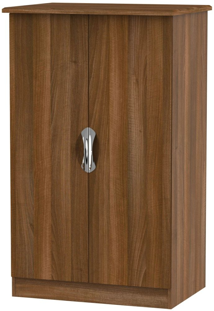 Camden Noche Walnut 2 Door Plain Midi Wardrobe