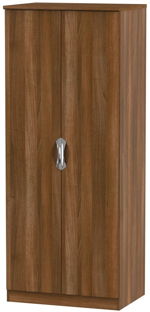 Camden Noche Walnut 2 Door Plain Wardrobe
