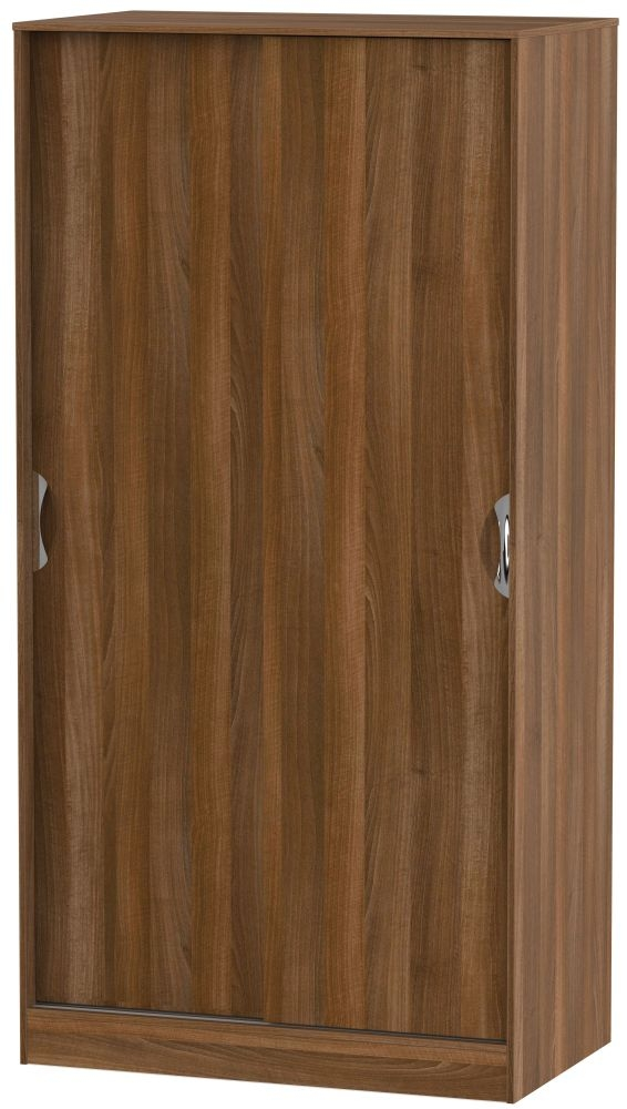 Camden Noche Walnut 2 Door Sliding Wardrobe