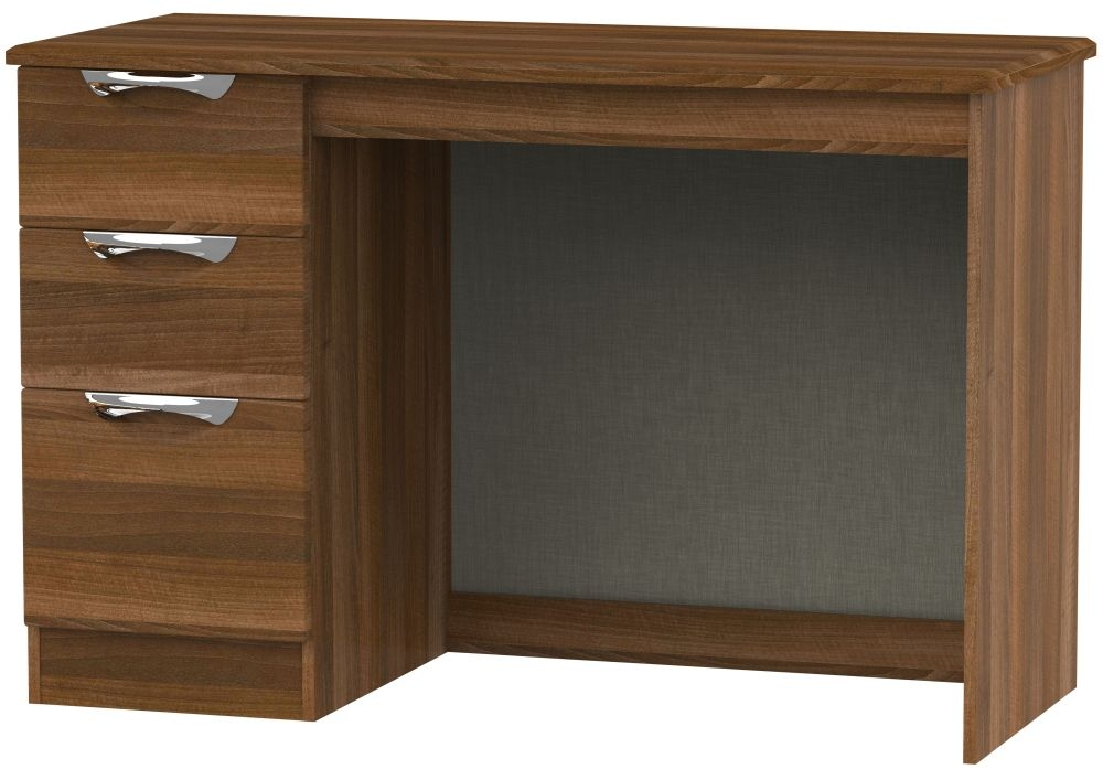Camden Noche Walnut 3 Drawer Desk
