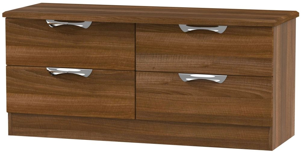 Camden Noche Walnut 4 Drawer Bed Box