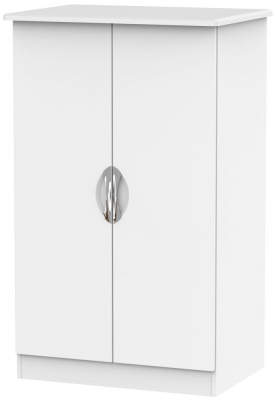 Camden White Matt 2 Door Plain Midi Wardrobe