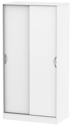 Camden White Matt 2 Door Wide Sliding Wardrobe