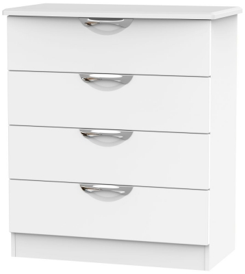 Camden White Matt 4 Drawer Chest