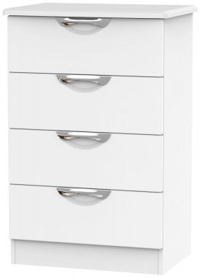 Camden White Matt 4 Drawer Midi Chest
