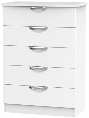 Camden White Matt 5 Drawer Chest