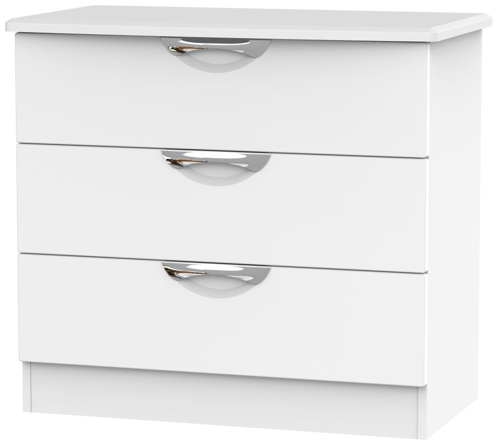 Camden White Matt 3 Drawer Chest