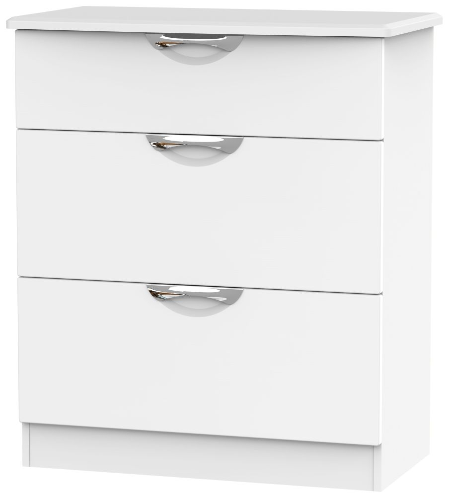 Camden White Matt 3 Drawer Deep Chest