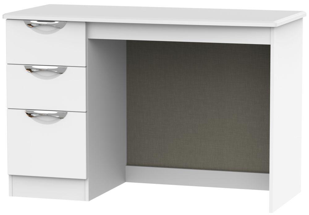 Camden White Matt 3 Drawer Desk