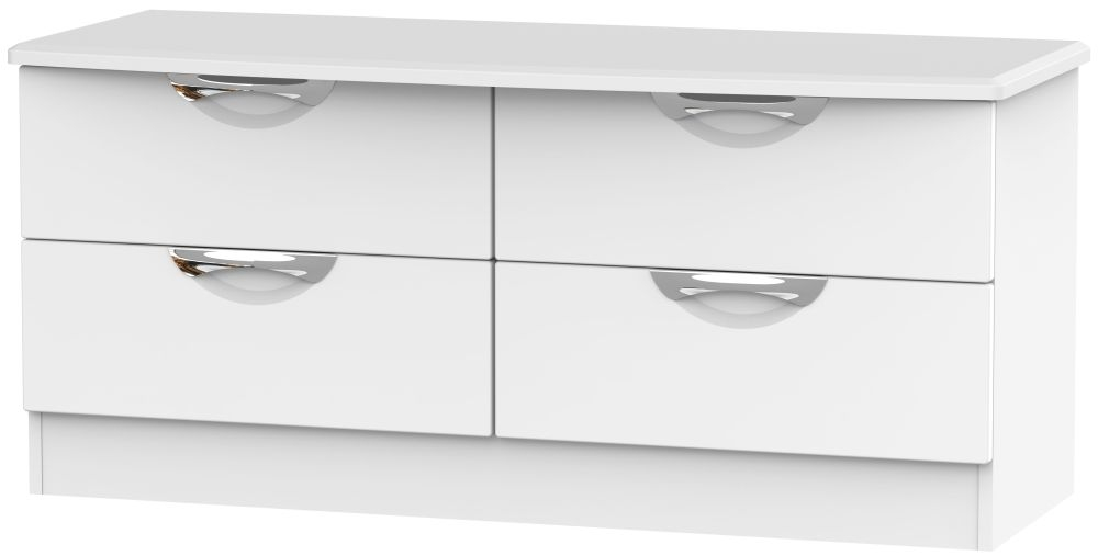 Camden White Matt 4 Drawer Bed Box
