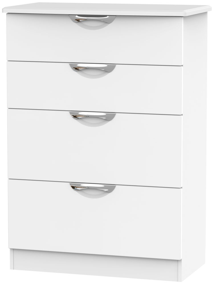 Camden White Matt 4 Drawer Deep Chest