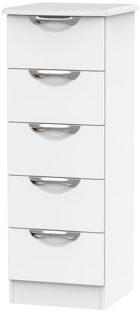 Camden White Matt 5 Drawer Locker Chest