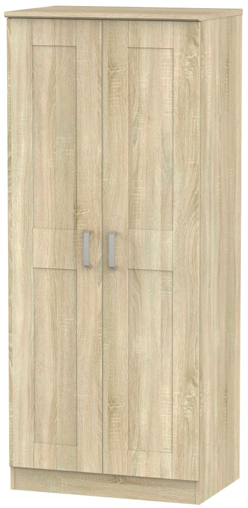 Cardigan Bay Bardolino Oak Wardrobe - 2ft 6in Plain