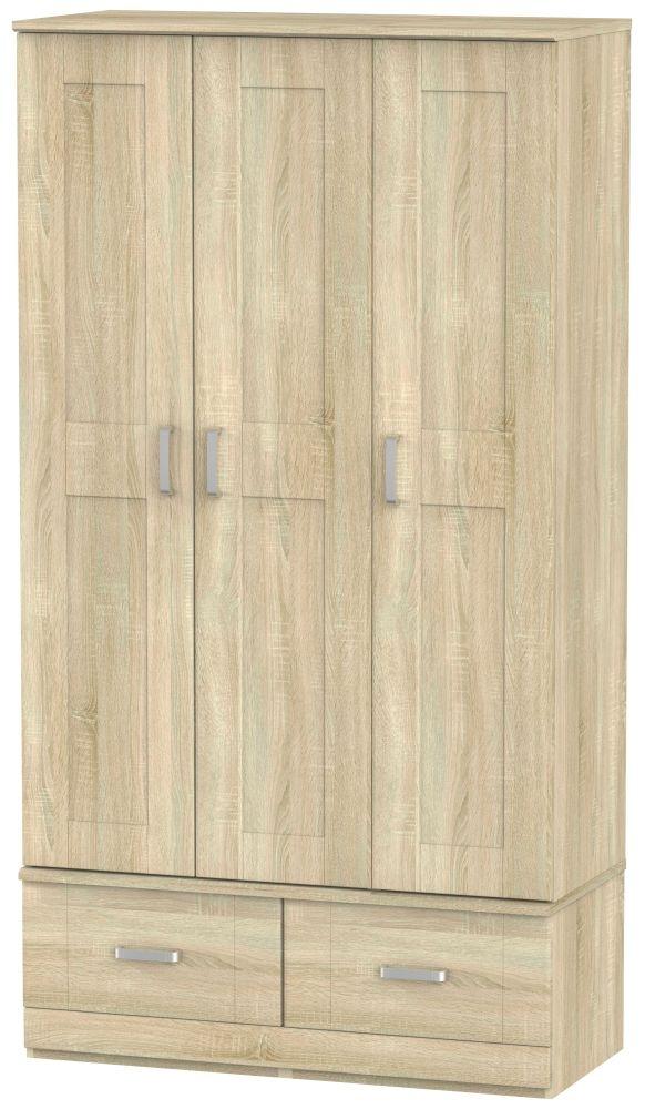 Cardigan Bay Bardolino Oak Wardrobe - Triple Box