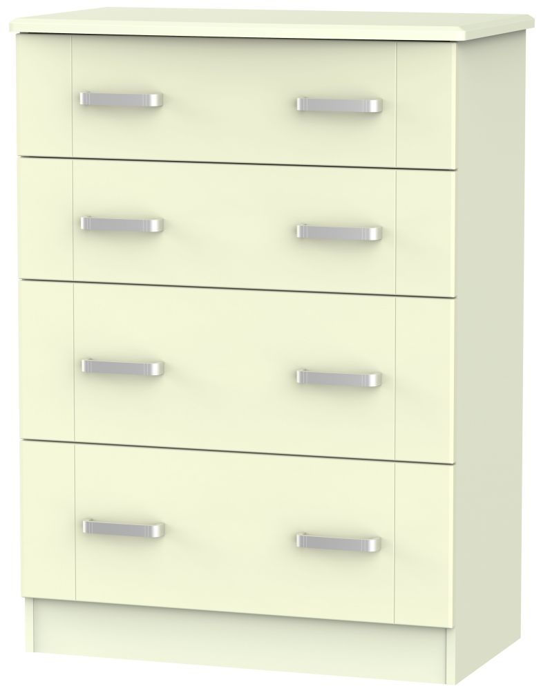Cardigan Bay Cream Chest of Drawer - 4 Drawer Deep