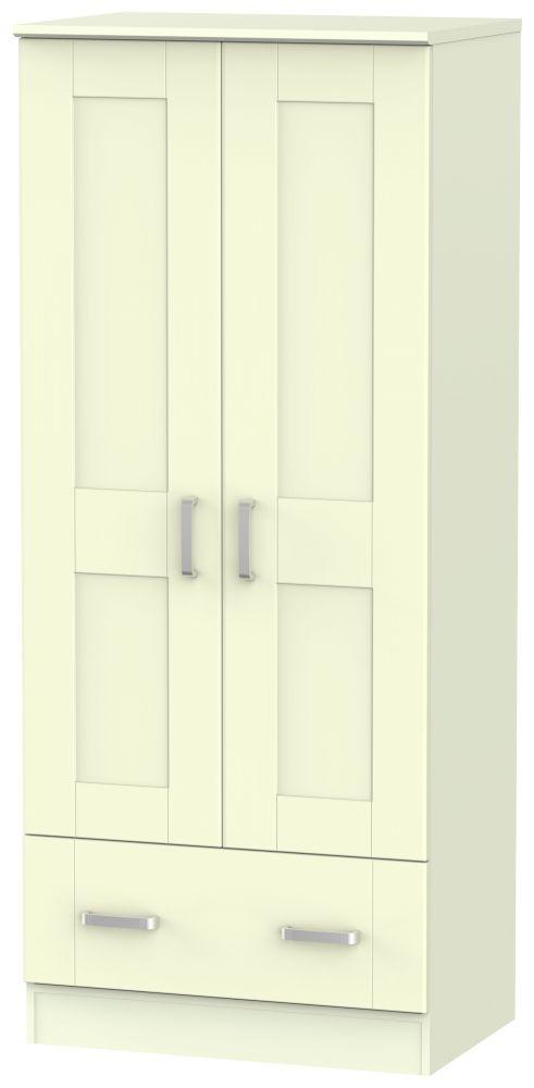 Cardigan Bay Cream Wardrobe - 2ft 6in 2 Drawer