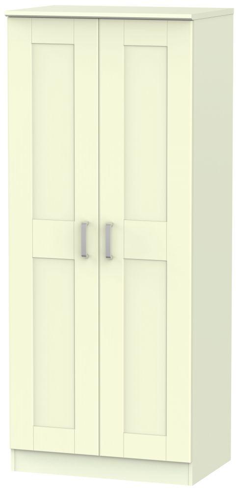 Cardigan Bay Cream Wardrobe - 2ft 6in Plain