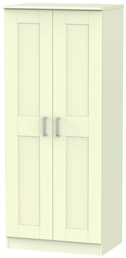 Cardigan Bay Cream Wardrobe - Double Plain with Double Hanging