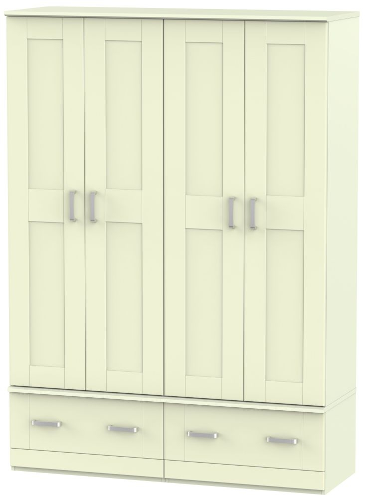 Cardigan Bay Cream Wardrobe - Quad Box