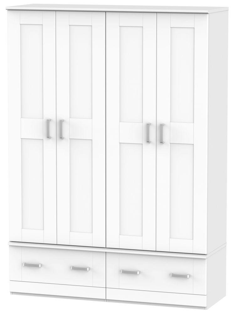 Cardigan Bay White Wardrobe - Quad Box