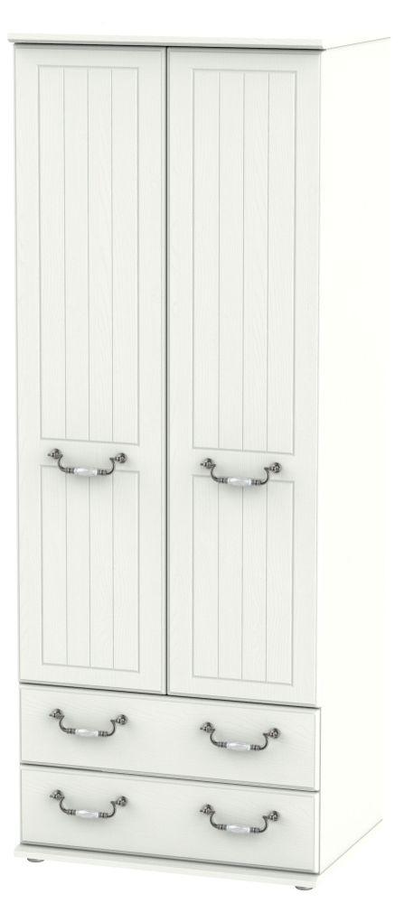 Coniston Cream 2 Door 2 Drawer Tall Wardrobe