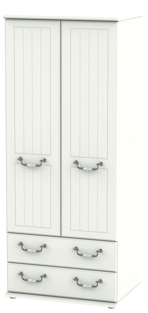 Coniston Cream 2 Door 2 Drawer Wardrobe