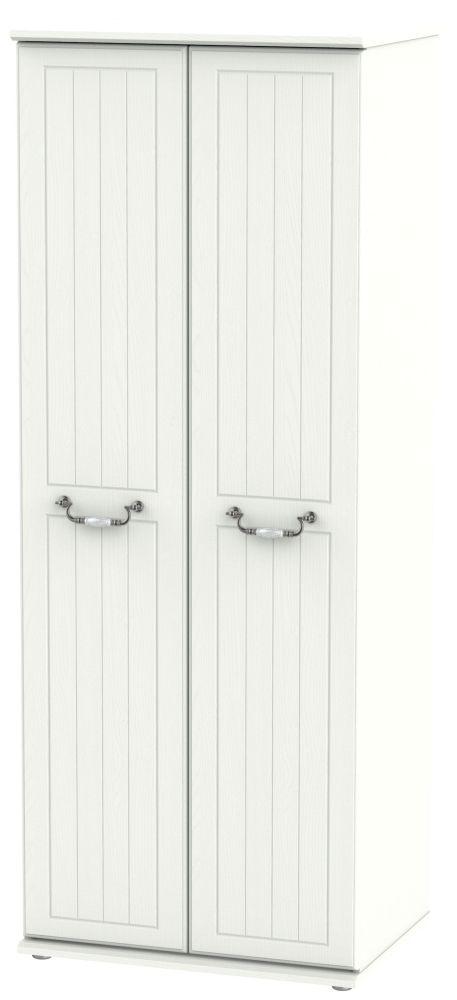 Coniston Cream 2 Door Tall Hanging Wardrobe