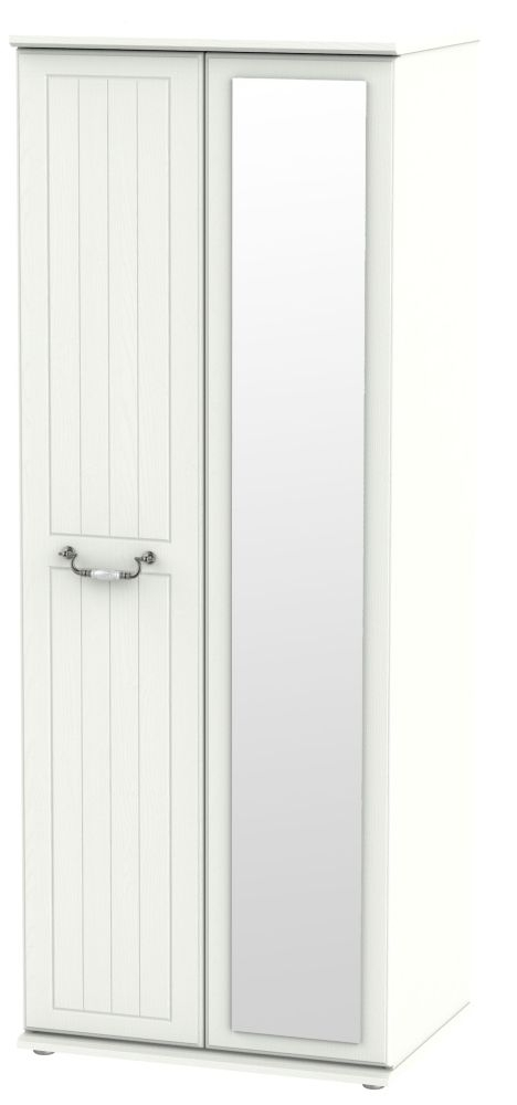 Coniston Cream 2 Door Tall Mirror Wardrobe