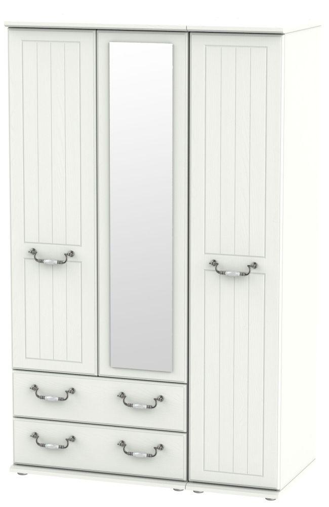 Coniston Cream 3 Door 2 Left Drawer Combi Wardrobe