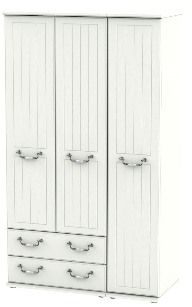 Coniston Cream 3 Door 2 Left Drawer Tall Wardrobe
