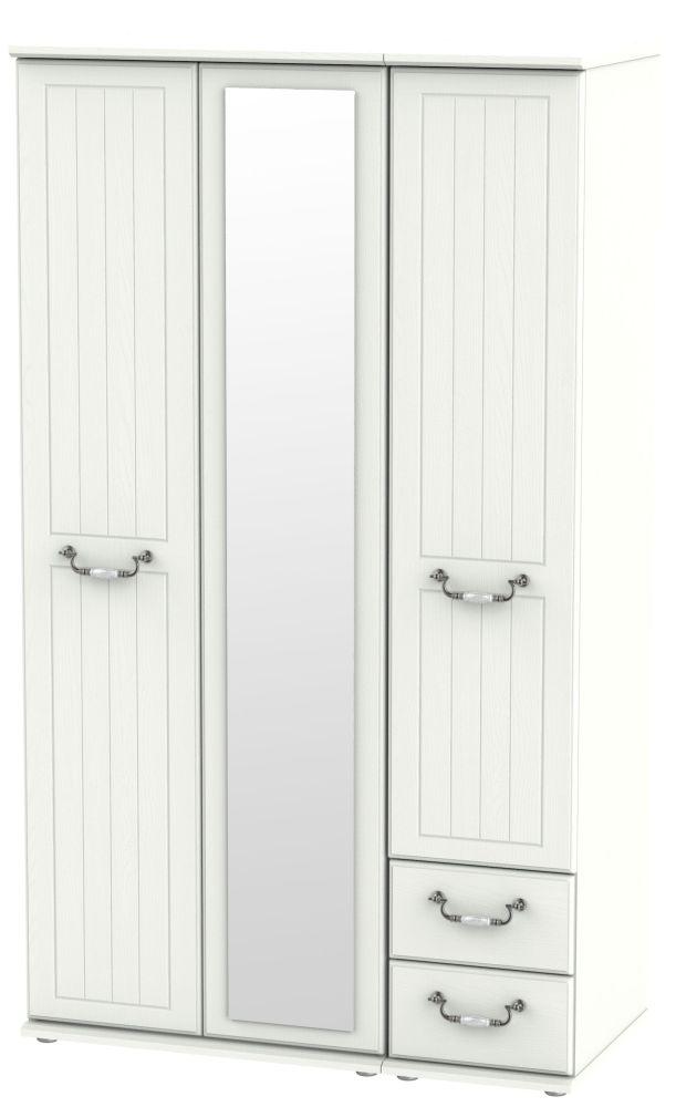 Coniston Cream 3 Door 2 Right Drawer Tall Combi Wardrobe