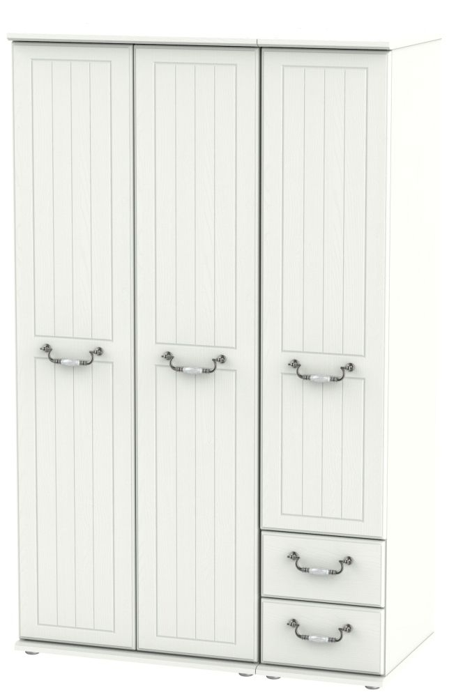 Coniston Cream 3 Door 2 Right Drawer Wardrobe