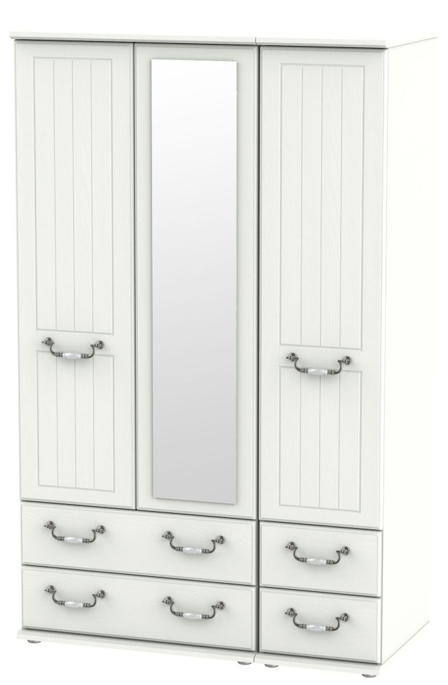 Coniston Cream 3 Door 4 Drawer Combi Wardrobe