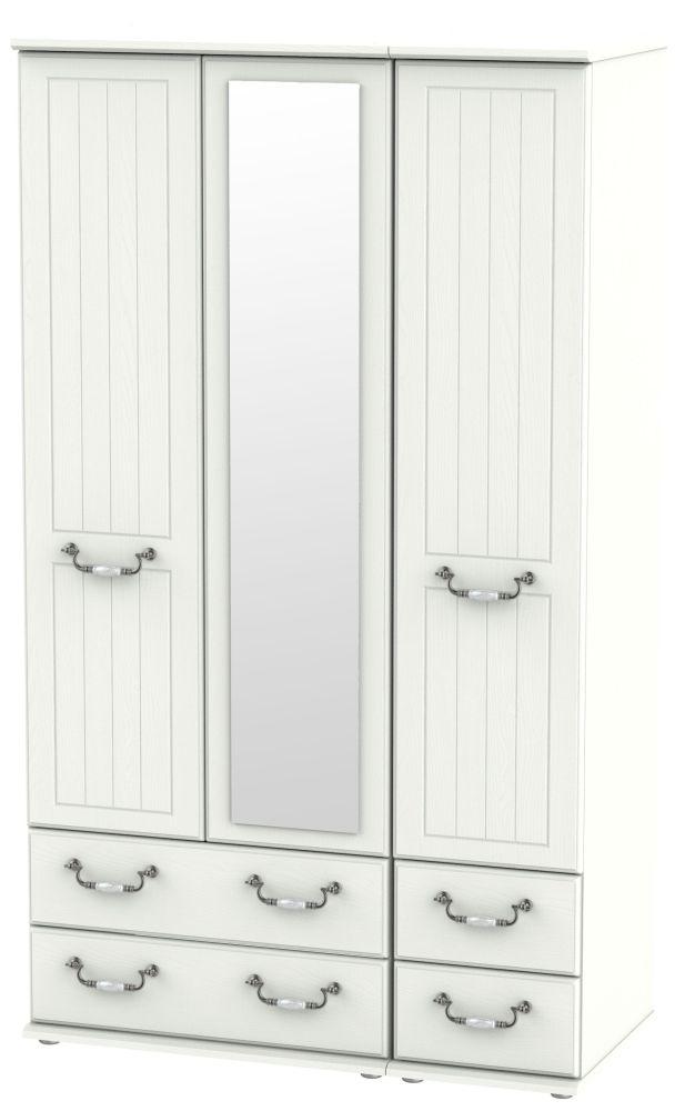 Coniston Cream 3 Door 4 Drawer Tall Combi Wardrobe