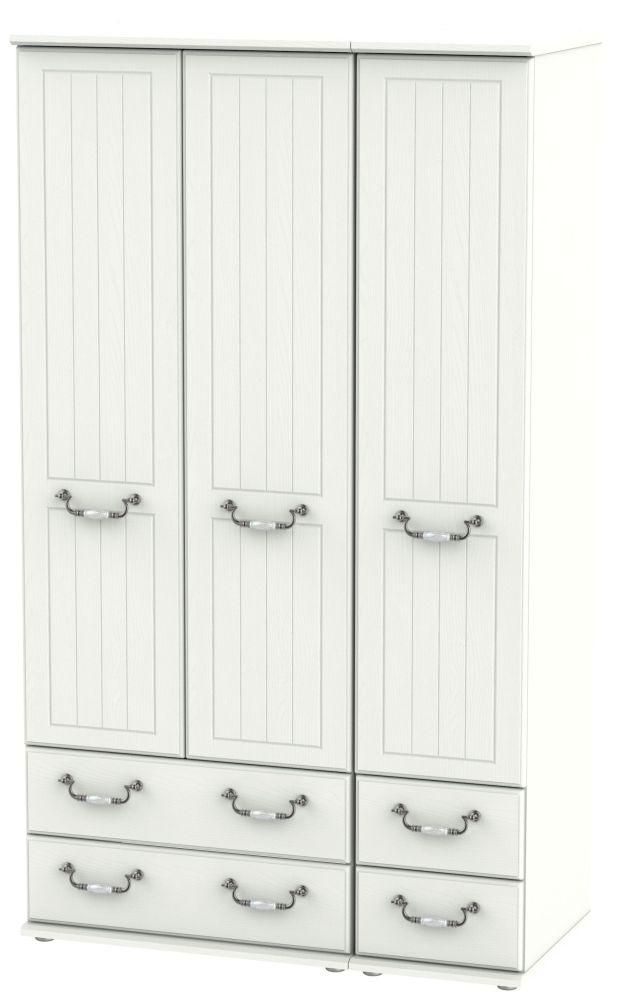 Coniston Cream 3 Door 4 Drawer Tall Wardrobe