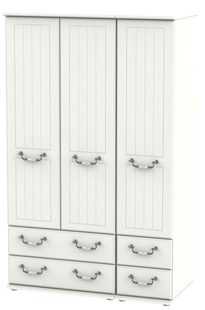 Coniston Cream 3 Door 4 Drawer Wardrobe
