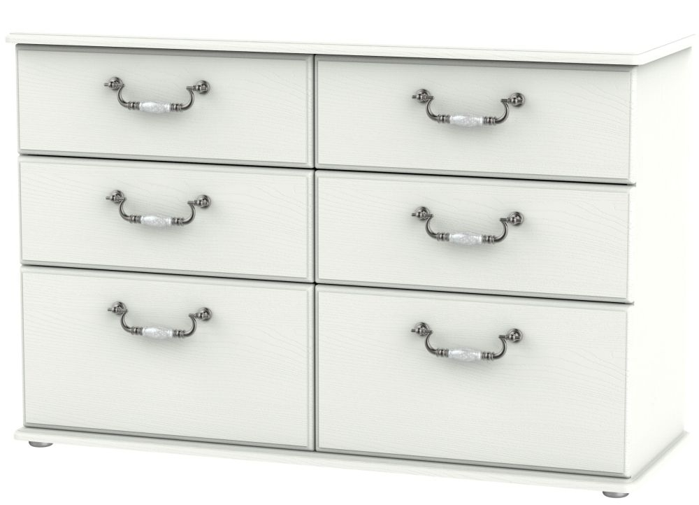 Coniston 6 Drawer Midi Chest - Cream