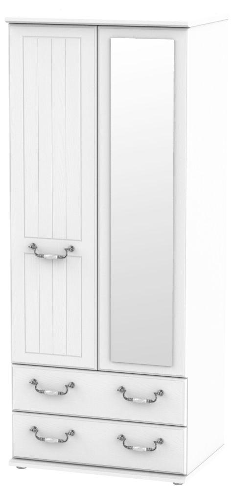 Coniston White 2 Door Combi Wardrobe