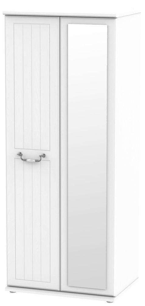 Coniston White 2 Door Mirror Wardrobe