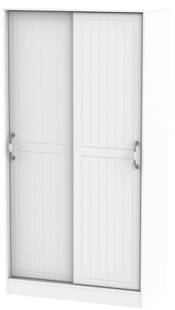 Coniston White 2 Door Sliding Wardrobe