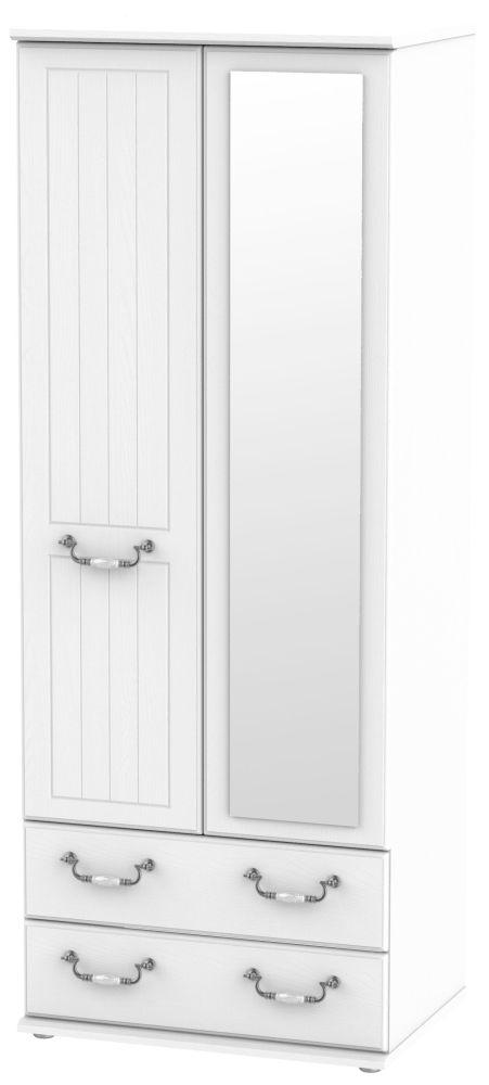 Coniston White 2 Door Tall Combi Wardrobe