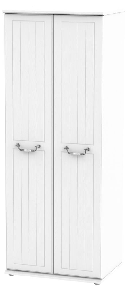 Coniston White 2 Door Tall Hanging Wardrobe