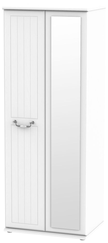 Coniston White 2 Door Tall Mirror Wardrobe